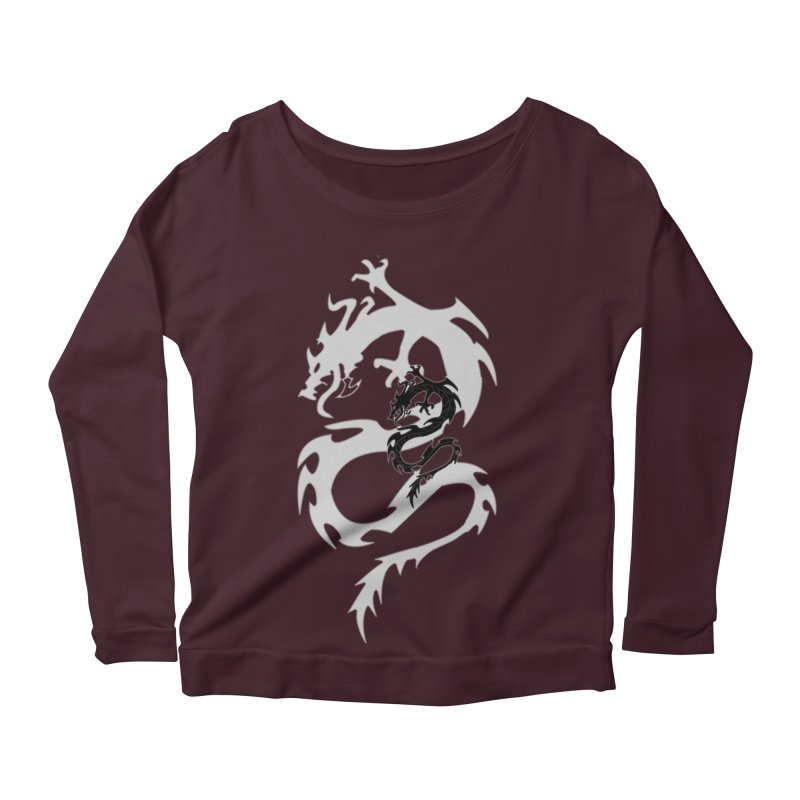 Double Dragon Women's Scoop Neck Longsleeve T-Shirt by DesignsbyAnvilJames's Artist Shop