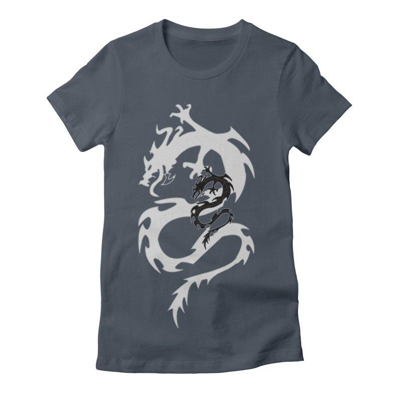 Double Dragon Women's T-Shirt by DesignsbyAnvilJames's Artist Shop