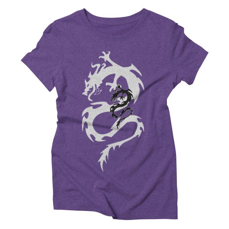 Double Dragon Women's Triblend T-Shirt by DesignsbyAnvilJames's Artist Shop