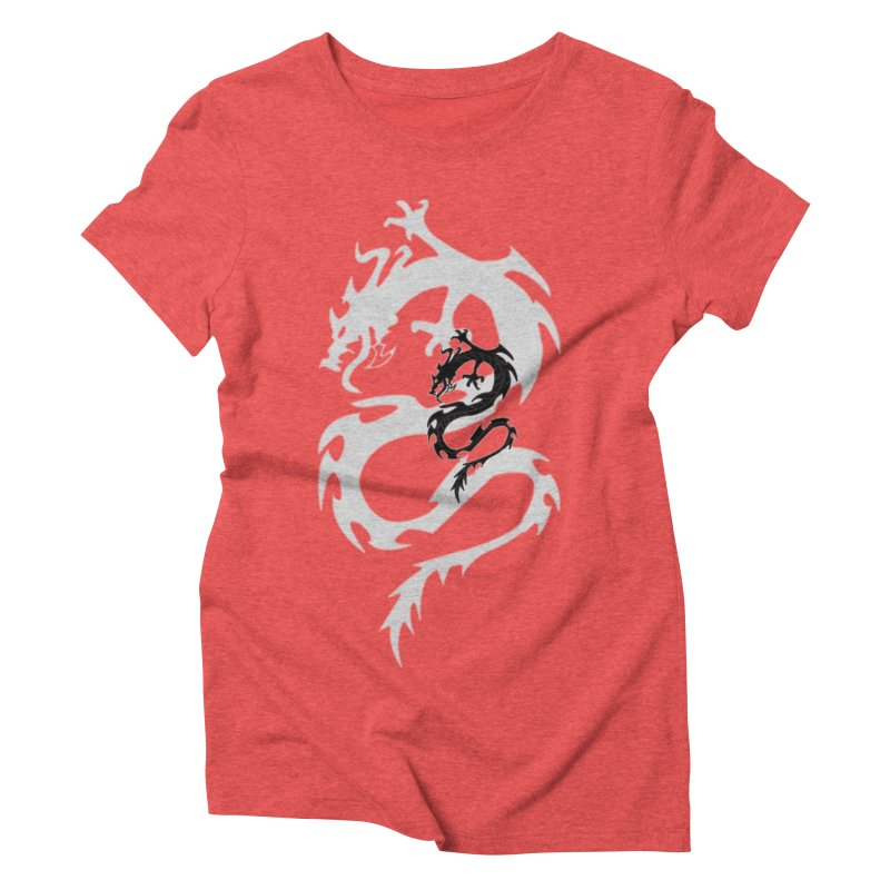 Double Dragon Women's Triblend T-Shirt by DesignsbyAnvilJames's Artist Shop