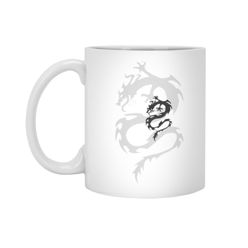 Double Dragon Accessories Standard Mug by DesignsbyAnvilJames's Artist Shop