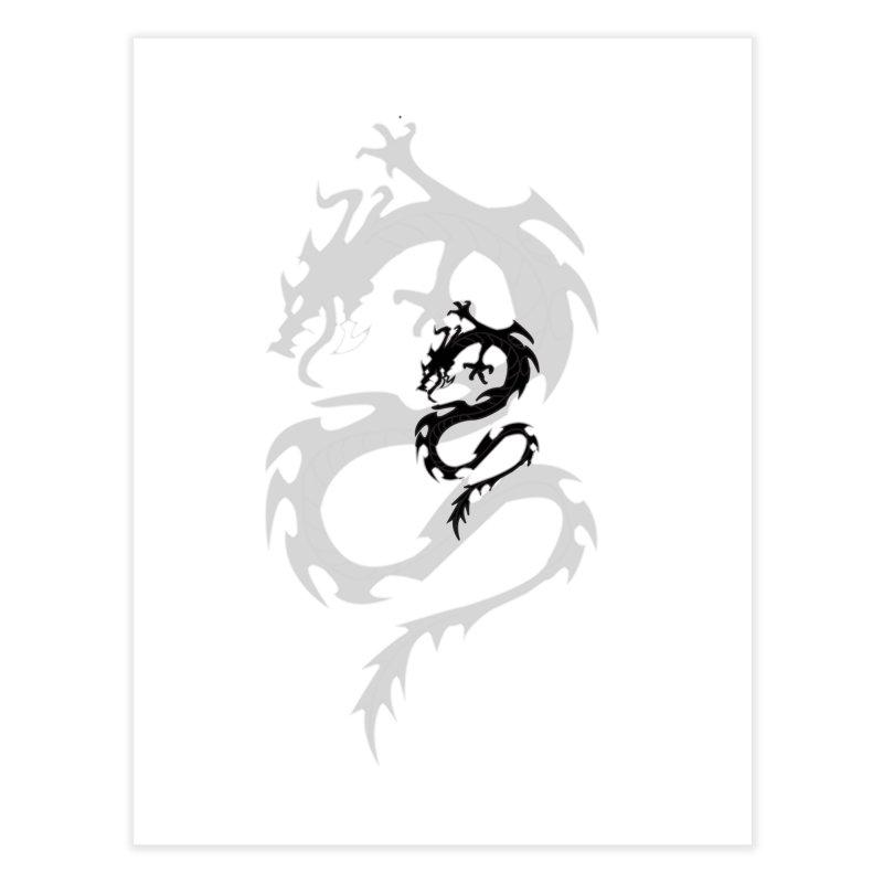 Double Dragon Home Fine Art Print by DesignsbyAnvilJames's Artist Shop