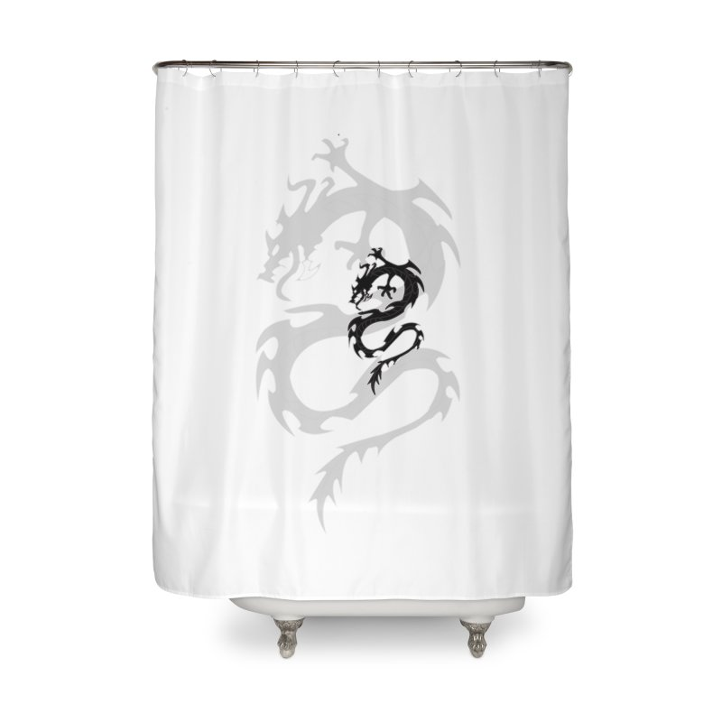 Double Dragon Home Shower Curtain by DesignsbyAnvilJames's Artist Shop