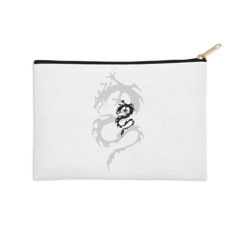 Double Dragon Accessories Zip Pouch by DesignsbyAnvilJames's Artist Shop