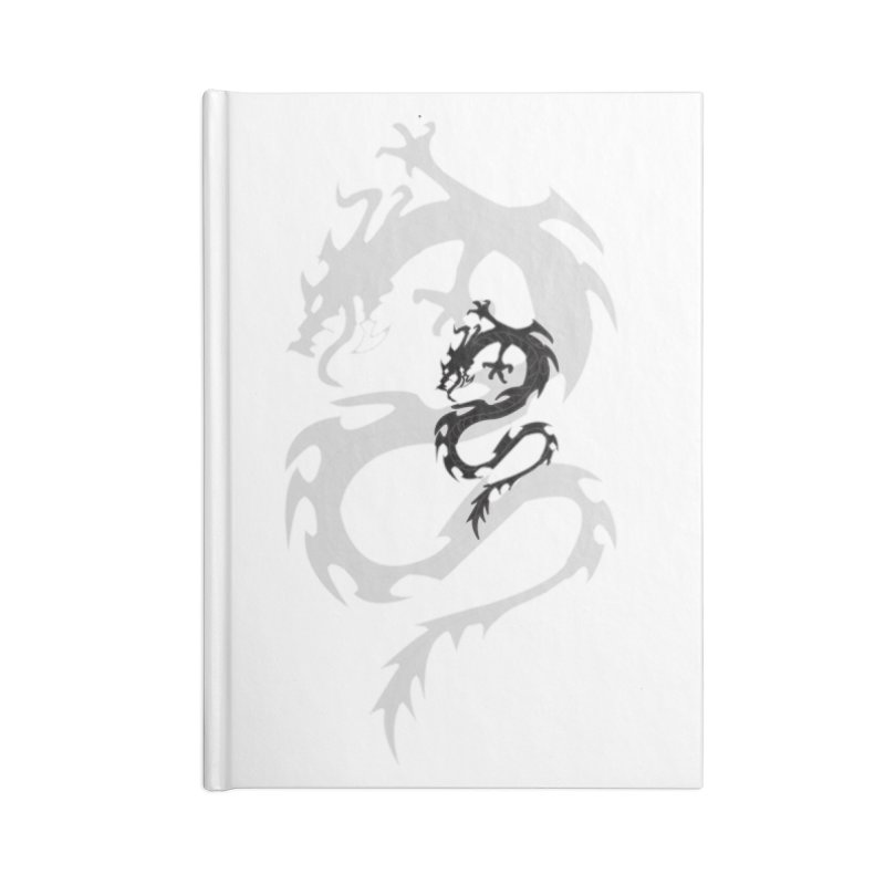 Double Dragon Accessories Blank Journal Notebook by DesignsbyAnvilJames's Artist Shop