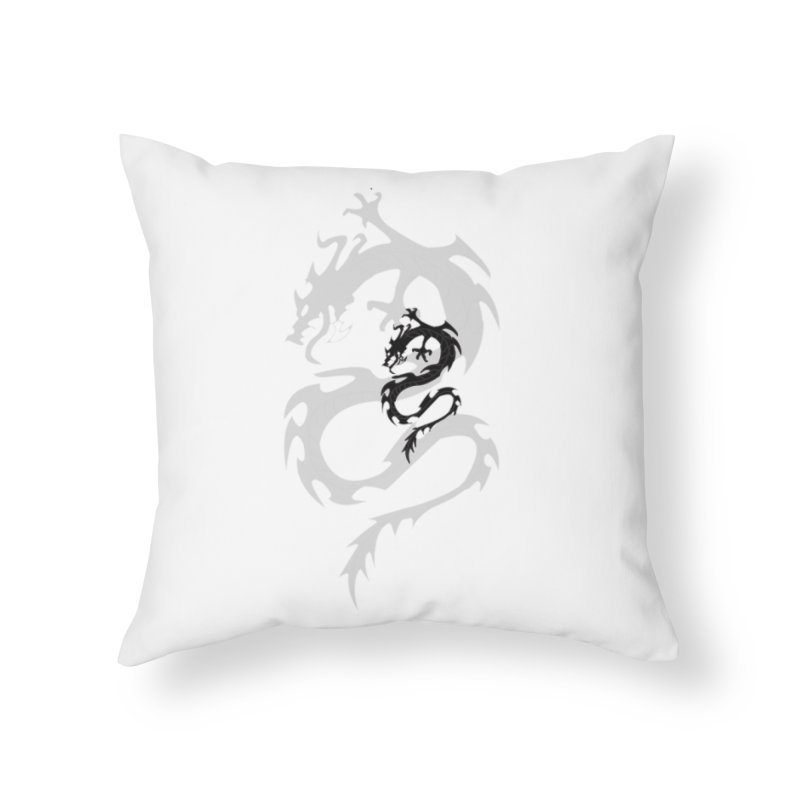 Double Dragon Home Throw Pillow by DesignsbyAnvilJames's Artist Shop