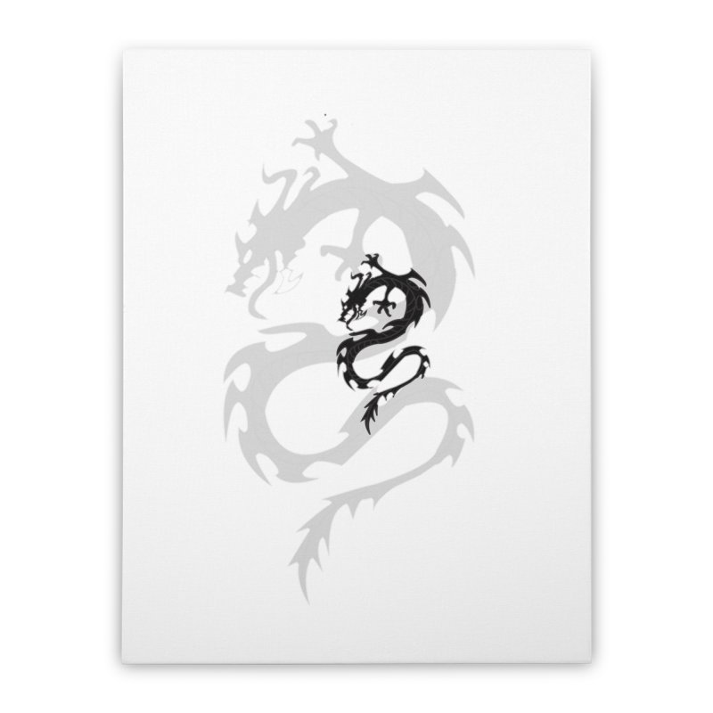 Double Dragon Home Stretched Canvas by DesignsbyAnvilJames's Artist Shop