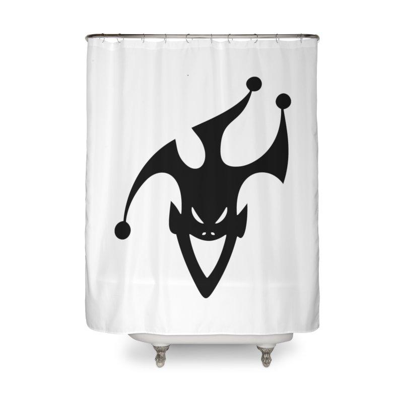 JESTER Home Shower Curtain by DesignsbyAnvilJames's Artist Shop
