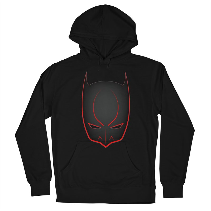 BAT MASK Women's French Terry Pullover Hoody by DesignsbyAnvilJames's Artist Shop