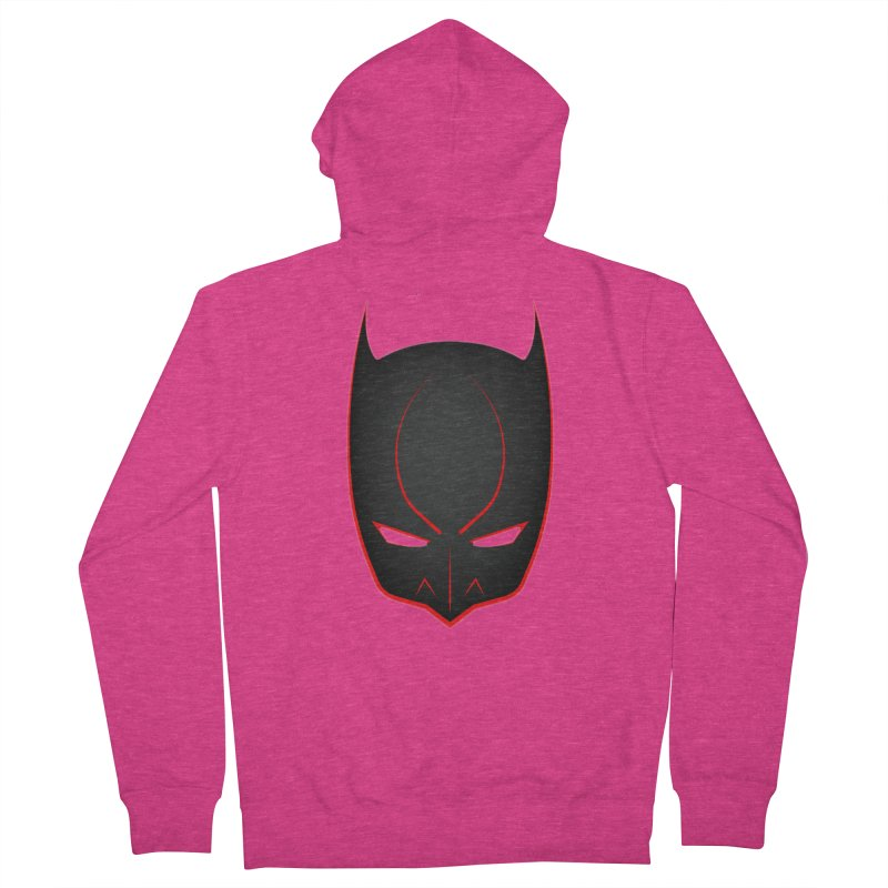 BAT MASK Women's French Terry Zip-Up Hoody by DesignsbyAnvilJames's Artist Shop