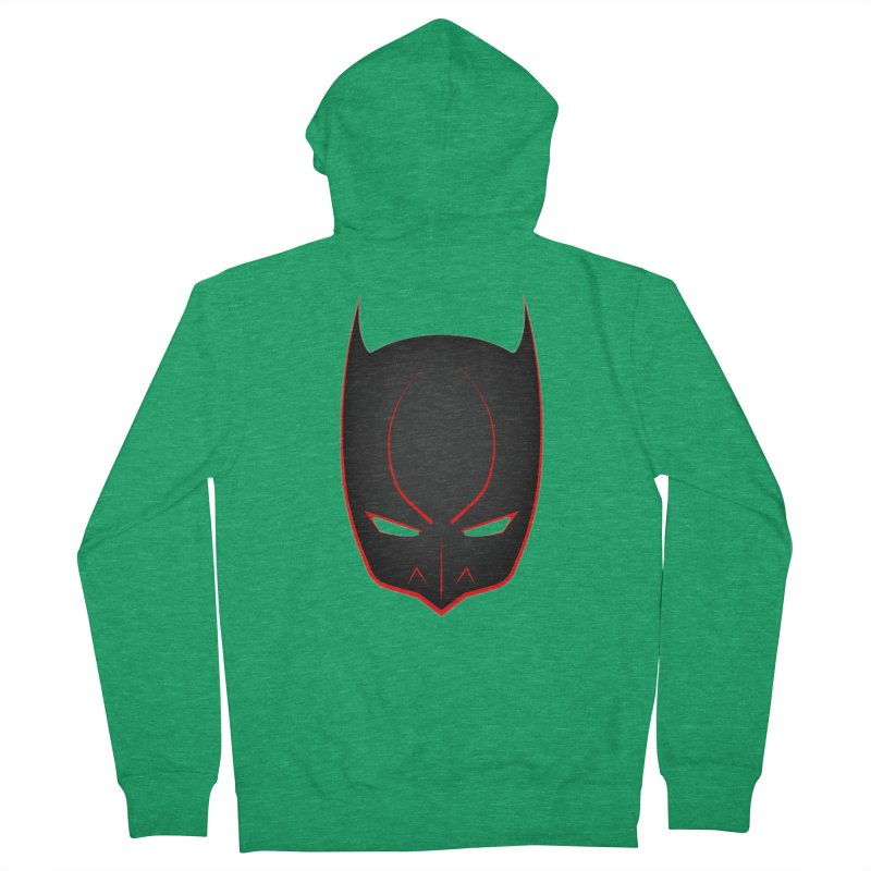 BAT MASK Men's Zip-Up Hoody by DesignsbyAnvilJames's Artist Shop