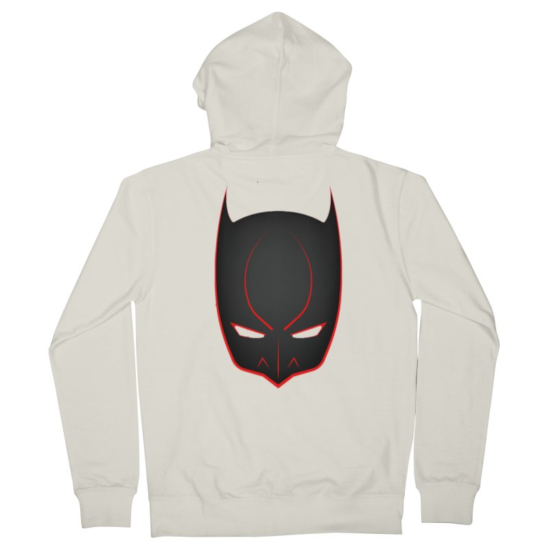 BAT MASK Men's French Terry Zip-Up Hoody by DesignsbyAnvilJames's Artist Shop
