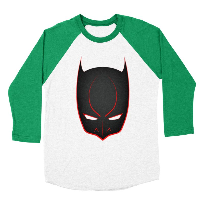 BAT MASK Women's Baseball Triblend Longsleeve T-Shirt by DesignsbyAnvilJames's Artist Shop
