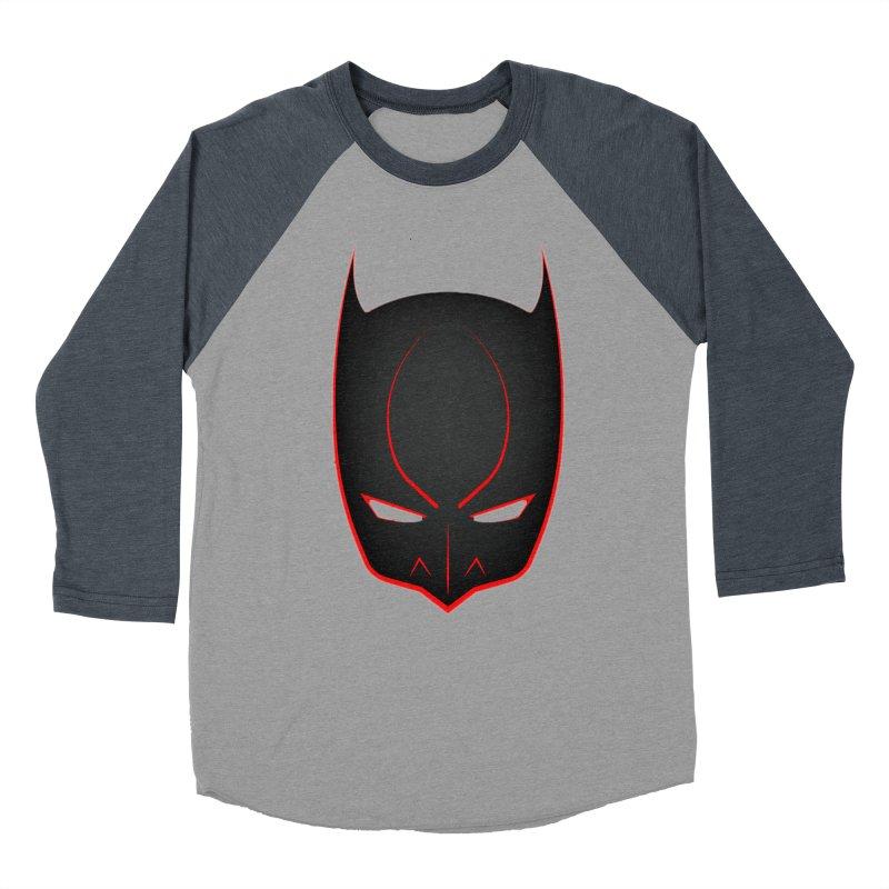 BAT MASK Men's Baseball Triblend Longsleeve T-Shirt by DesignsbyAnvilJames's Artist Shop