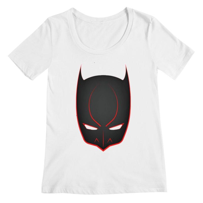 BAT MASK Women's Regular Scoop Neck by DesignsbyAnvilJames's Artist Shop