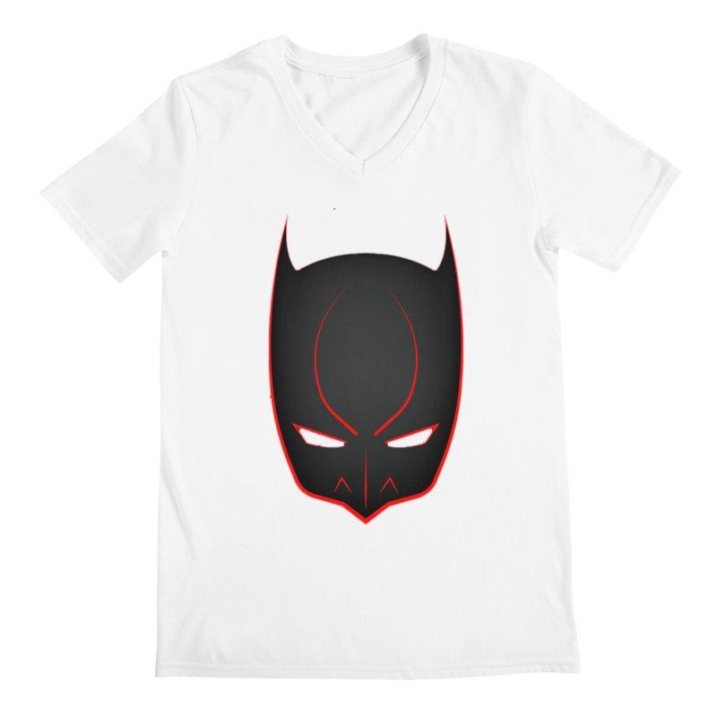 BAT MASK Men's V-Neck by DesignsbyAnvilJames's Artist Shop
