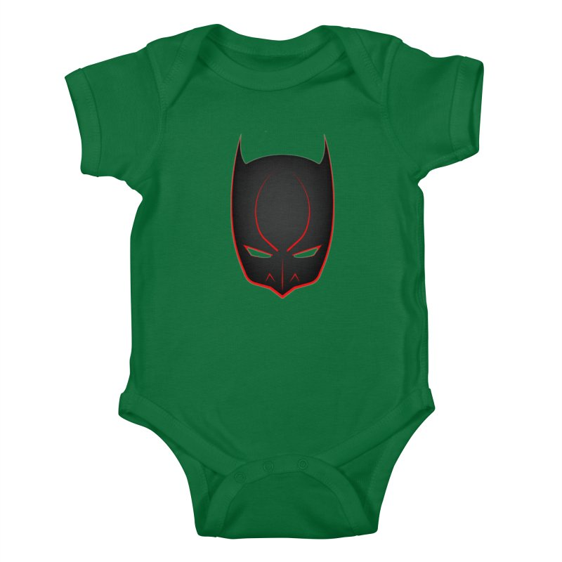 BAT MASK Kids Baby Bodysuit by DesignsbyAnvilJames's Artist Shop