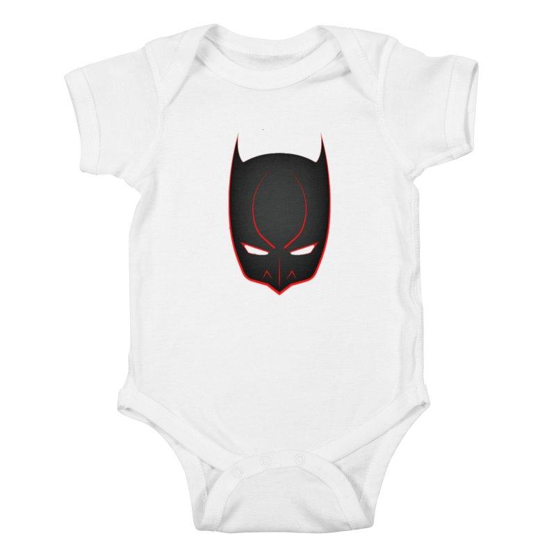 BAT MASK Kids Baby Bodysuit by DesignsbyAnvilJames's Artist Shop