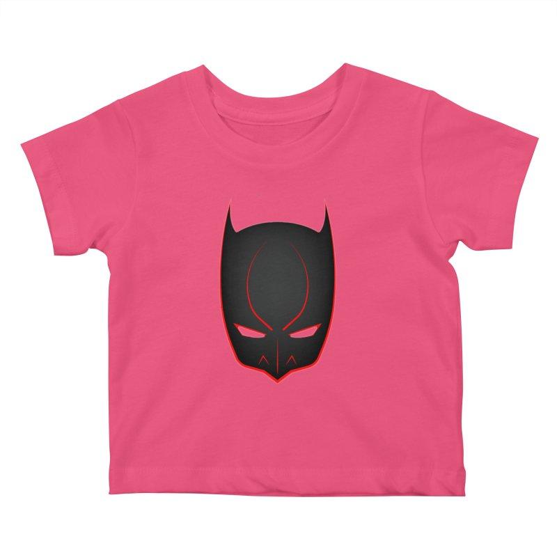 BAT MASK Kids Baby T-Shirt by DesignsbyAnvilJames's Artist Shop