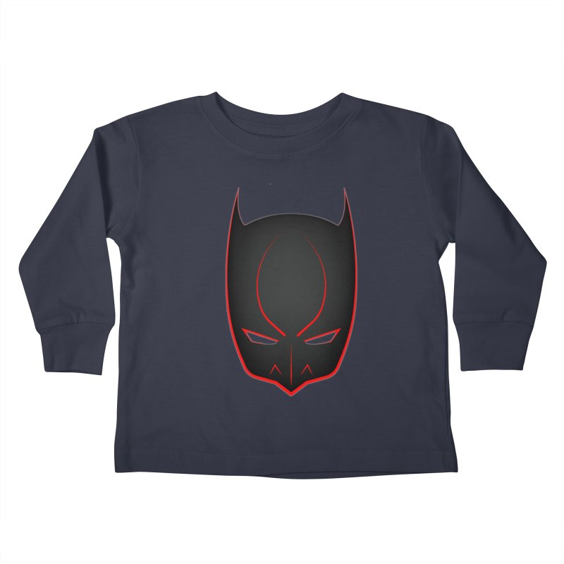 BAT MASK Kids Toddler Longsleeve T-Shirt by DesignsbyAnvilJames's Artist Shop