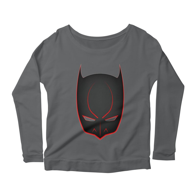 BAT MASK Women's Scoop Neck Longsleeve T-Shirt by DesignsbyAnvilJames's Artist Shop