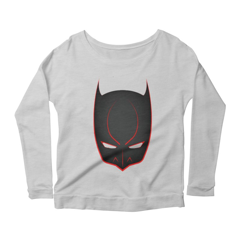 BAT MASK Women's Scoop Neck Longsleeve T-Shirt by DesignsbyAnvilJames's Artist Shop