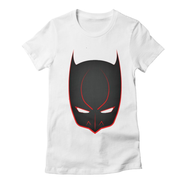 BAT MASK Women's Fitted T-Shirt by DesignsbyAnvilJames's Artist Shop