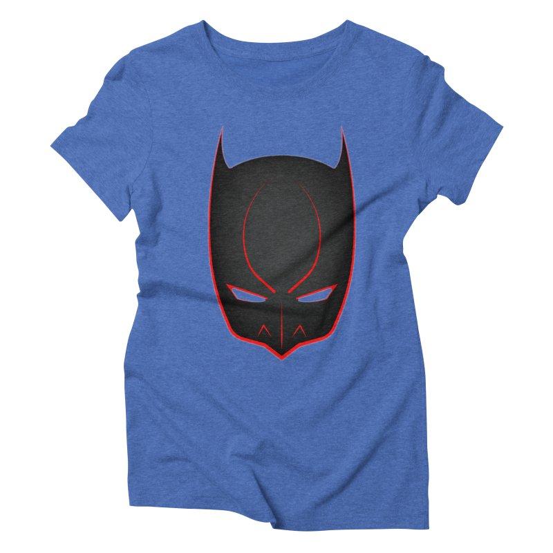 BAT MASK Women's Triblend T-Shirt by DesignsbyAnvilJames's Artist Shop
