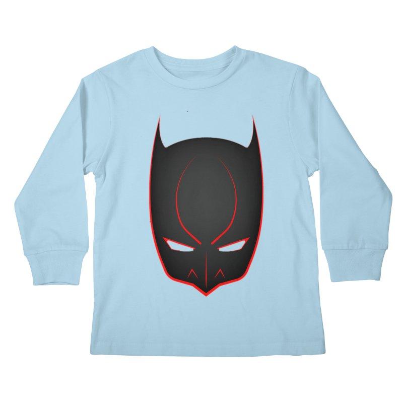 BAT MASK Kids Longsleeve T-Shirt by DesignsbyAnvilJames's Artist Shop