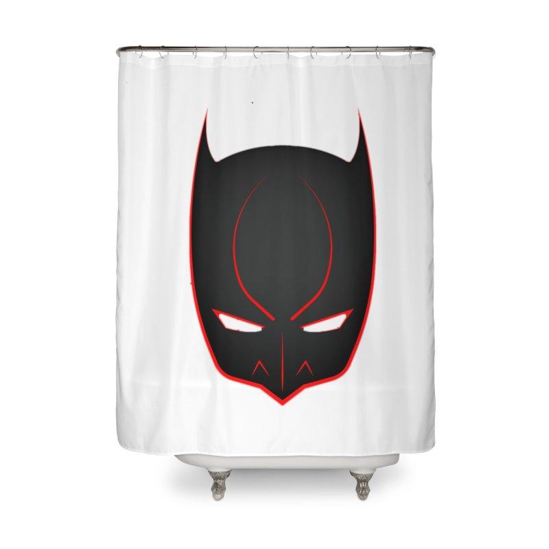 BAT MASK Home Shower Curtain by DesignsbyAnvilJames's Artist Shop