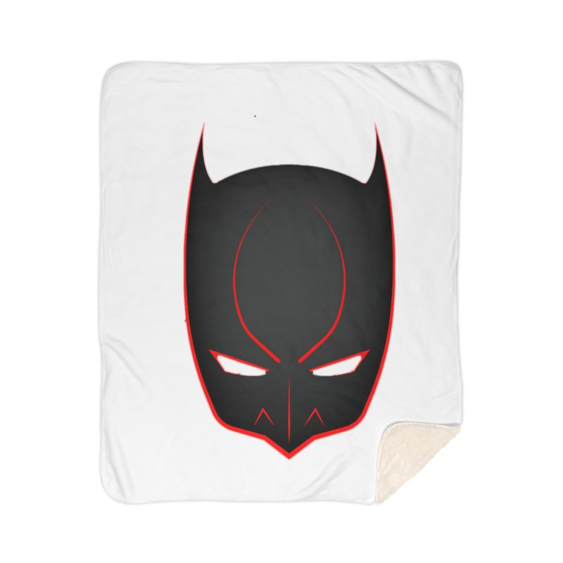 BAT MASK Home Sherpa Blanket Blanket by DesignsbyAnvilJames's Artist Shop