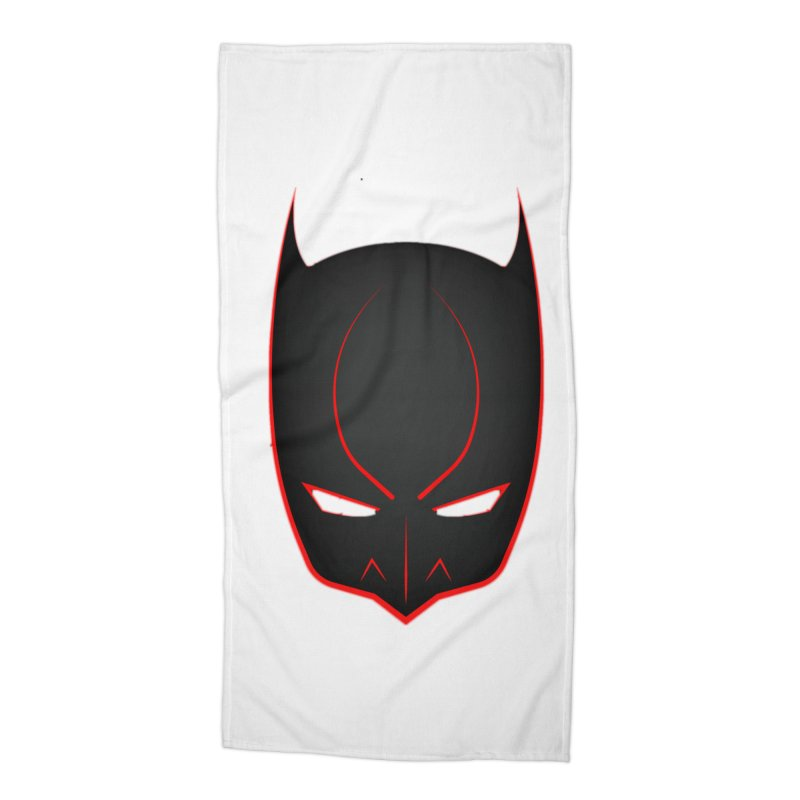 BAT MASK Accessories Beach Towel by DesignsbyAnvilJames's Artist Shop