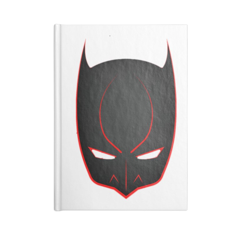 BAT MASK Accessories Lined Journal Notebook by DesignsbyAnvilJames's Artist Shop