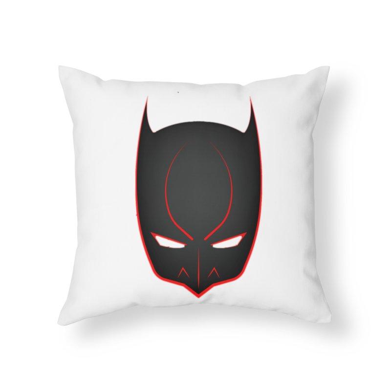 BAT MASK Home Throw Pillow by DesignsbyAnvilJames's Artist Shop