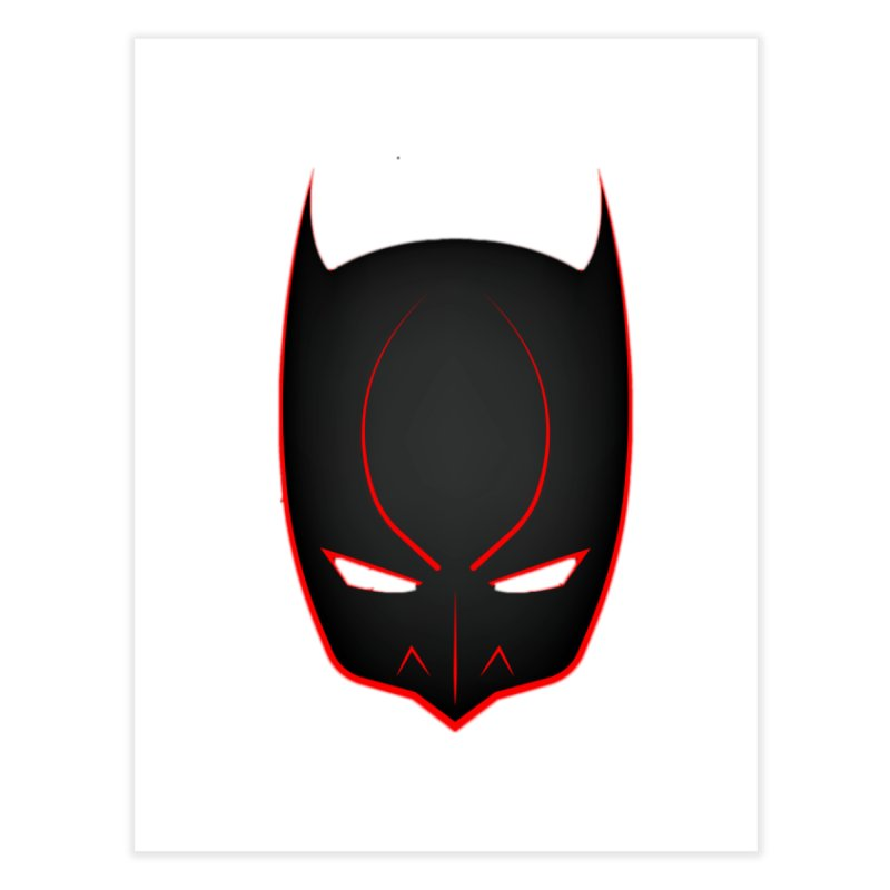 BAT MASK Home Fine Art Print by DesignsbyAnvilJames's Artist Shop