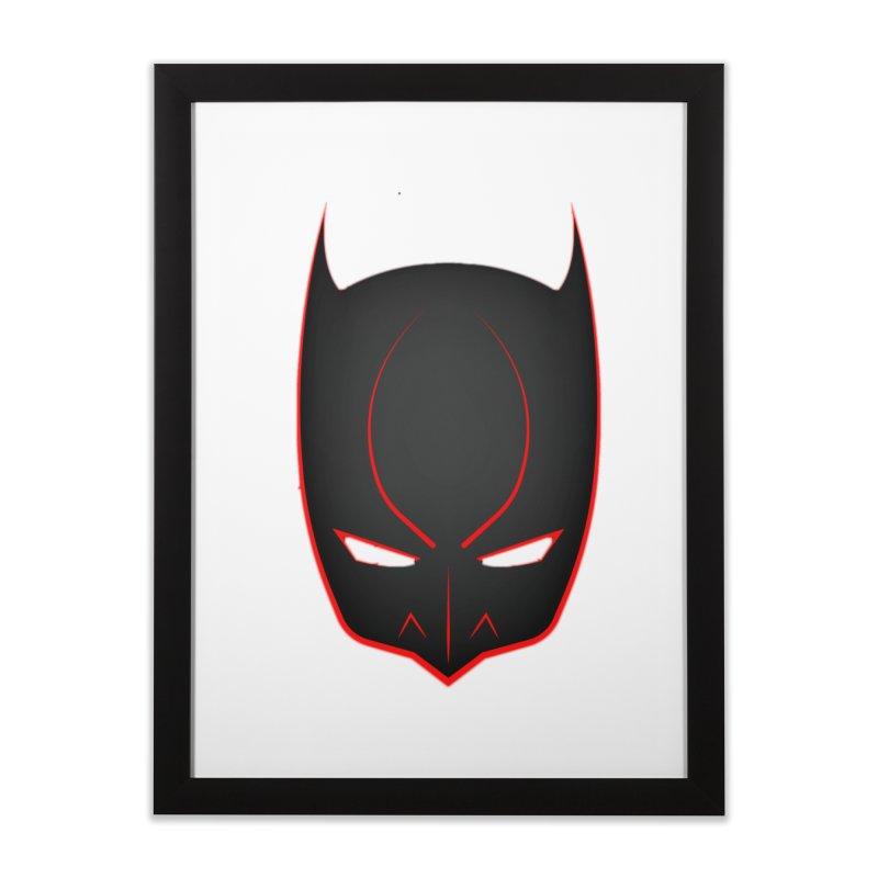 BAT MASK Home Framed Fine Art Print by DesignsbyAnvilJames's Artist Shop