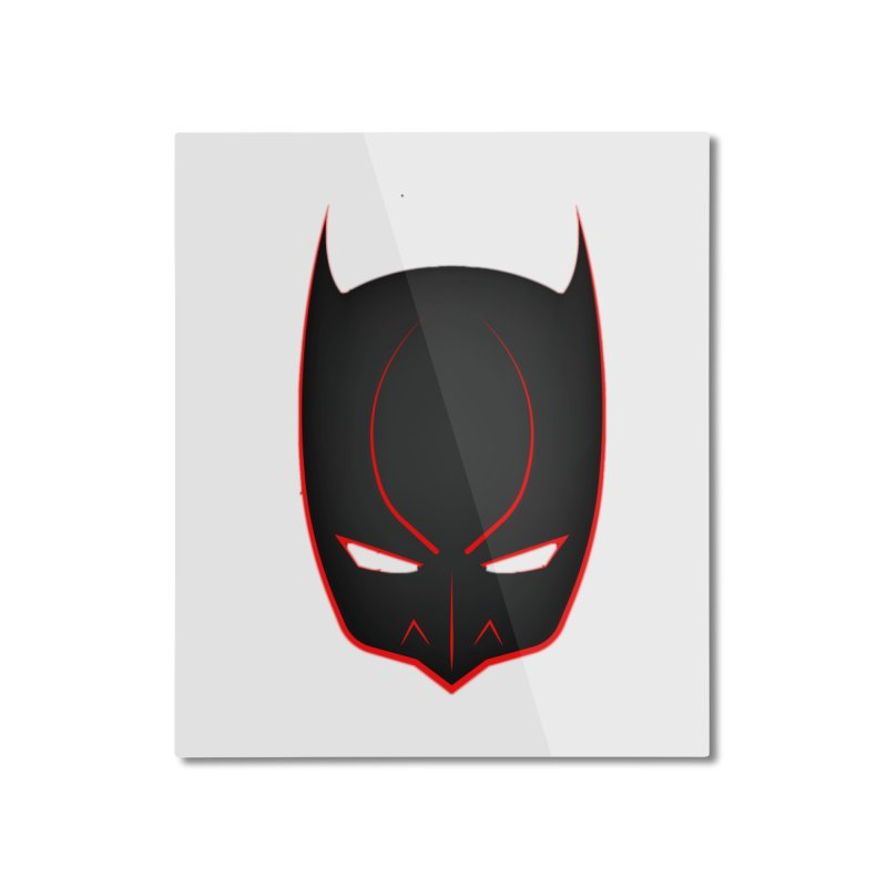 BAT MASK Home Mounted Aluminum Print by DesignsbyAnvilJames's Artist Shop