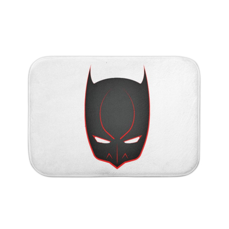BAT MASK Home Bath Mat by DesignsbyAnvilJames's Artist Shop