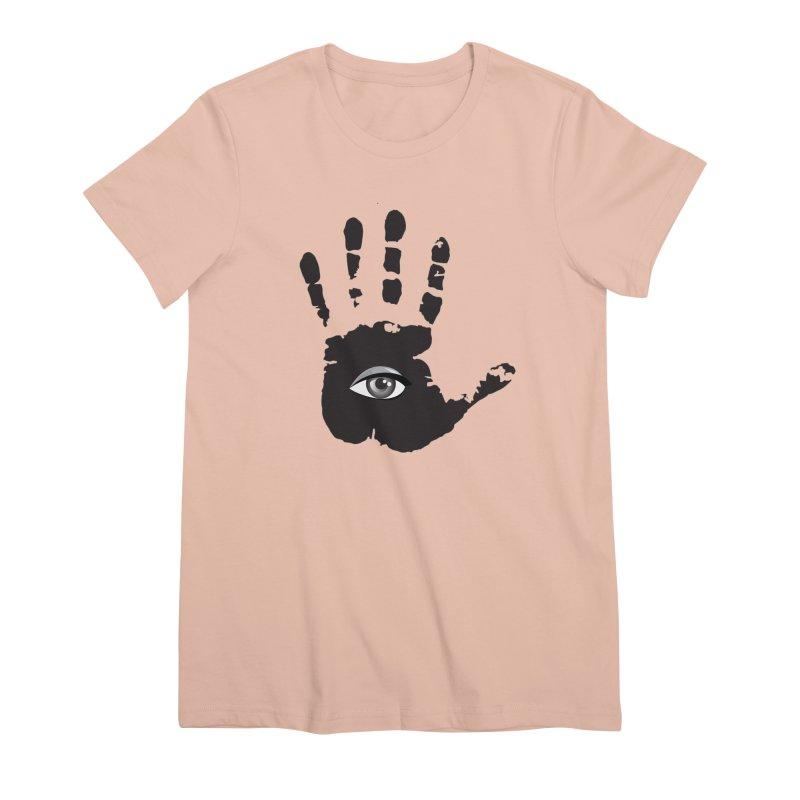 SEEING HAND Women's Premium T-Shirt by DesignsbyAnvilJames's Artist Shop