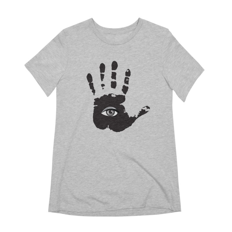 SEEING HAND Women's Extra Soft T-Shirt by DesignsbyAnvilJames's Artist Shop