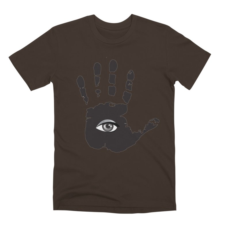 SEEING HAND Men's Premium T-Shirt by DesignsbyAnvilJames's Artist Shop