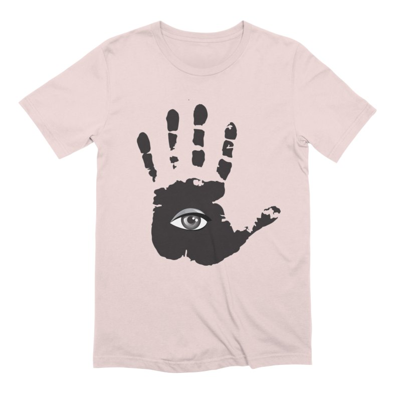 SEEING HAND Men's Extra Soft T-Shirt by DesignsbyAnvilJames's Artist Shop