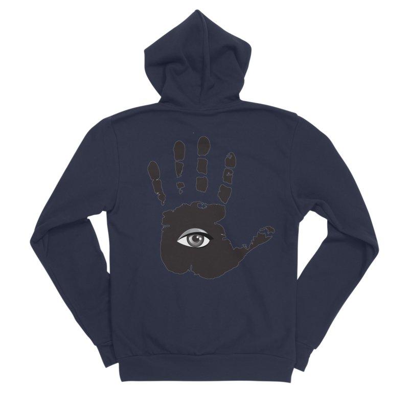 SEEING HAND Women's Sponge Fleece Zip-Up Hoody by DesignsbyAnvilJames's Artist Shop