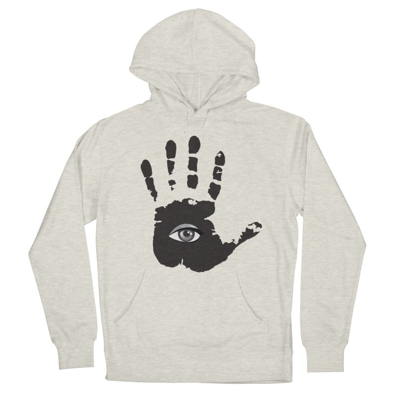 SEEING HAND Men's French Terry Pullover Hoody by DesignsbyAnvilJames's Artist Shop