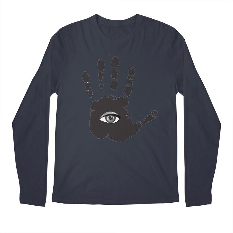 SEEING HAND Men's Regular Longsleeve T-Shirt by DesignsbyAnvilJames's Artist Shop