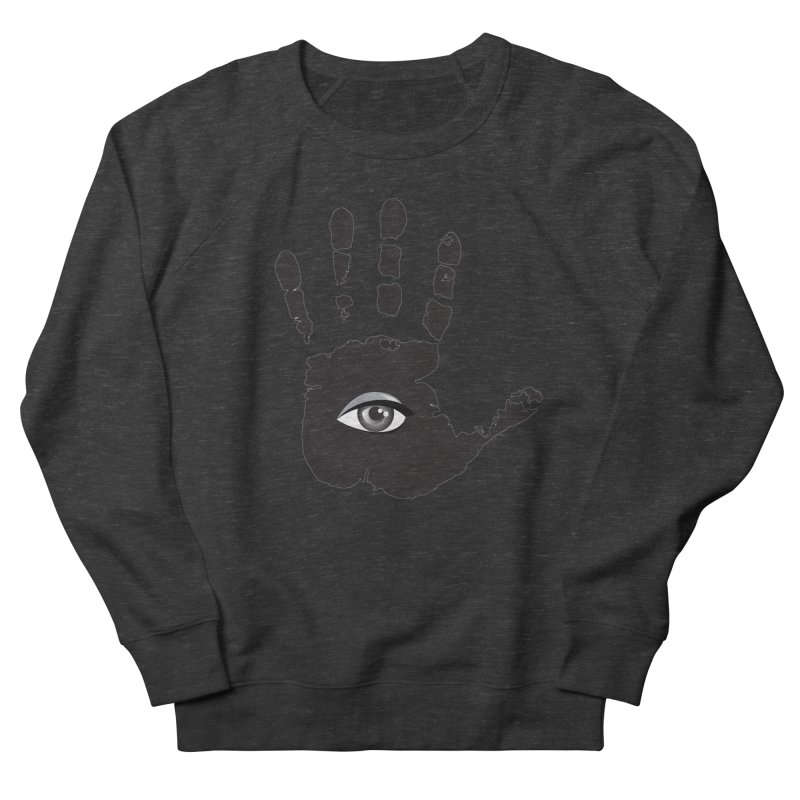 SEEING HAND Women's French Terry Sweatshirt by DesignsbyAnvilJames's Artist Shop