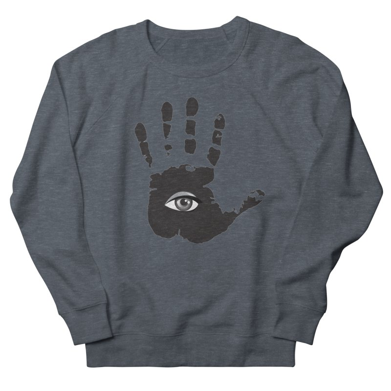 SEEING HAND Men's French Terry Sweatshirt by DesignsbyAnvilJames's Artist Shop