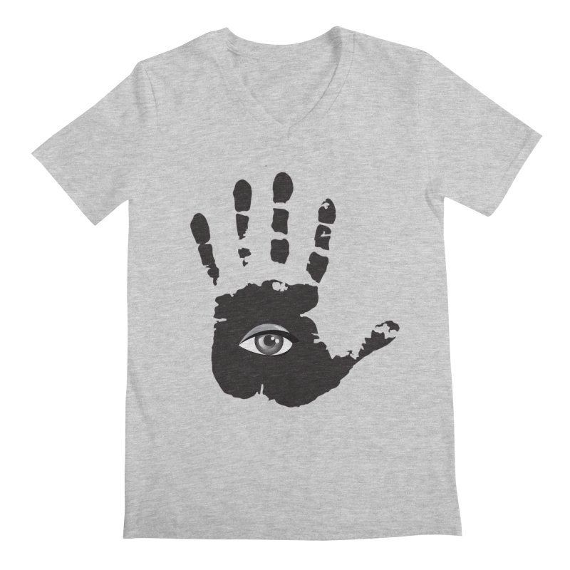 SEEING HAND Men's Regular V-Neck by DesignsbyAnvilJames's Artist Shop