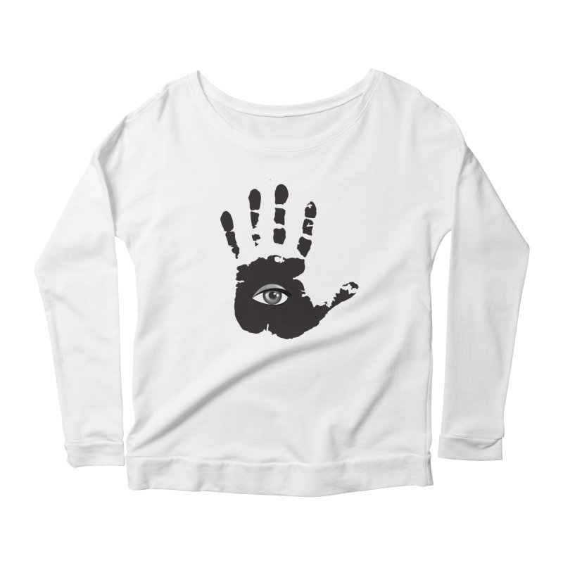 SEEING HAND Women's Scoop Neck Longsleeve T-Shirt by DesignsbyAnvilJames's Artist Shop