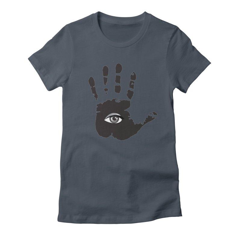 SEEING HAND Women's T-Shirt by DesignsbyAnvilJames's Artist Shop